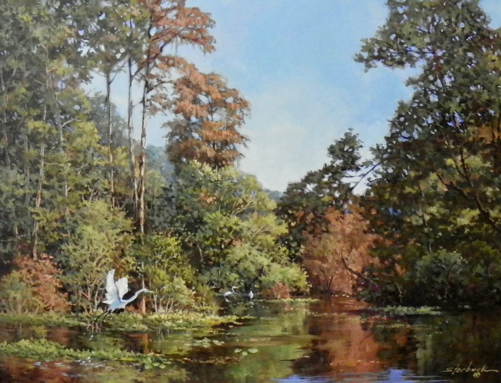 Chipola River Oil Painting