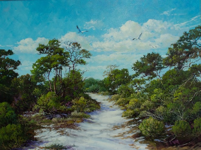 Grayton Path 18 x 24 Oil Painting